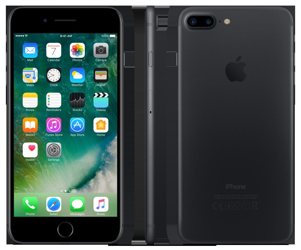 bon plan l 39 apple iphone 7 plus 128 go noir mat est 804 99 sur priceminister. Black Bedroom Furniture Sets. Home Design Ideas