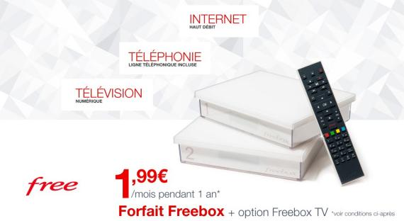 Freebox Crystal en Vente Privée à 2€/mois pour la Rentrée