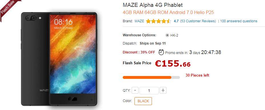 Maze Alpha offre GearBest