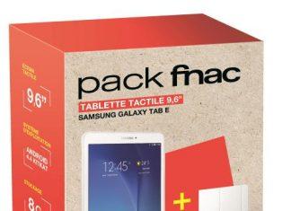 Pack Fnac Tablette Samsung Galaxy Tab E 8 Go Blanc Etui Folio Blanc