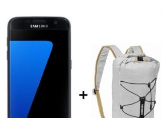 Samsung Galaxy S7 + sac à dos waterproof