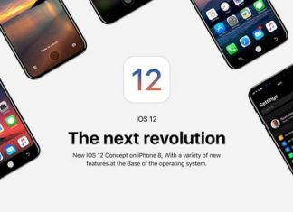 iPhone 8 iOS 12 concept