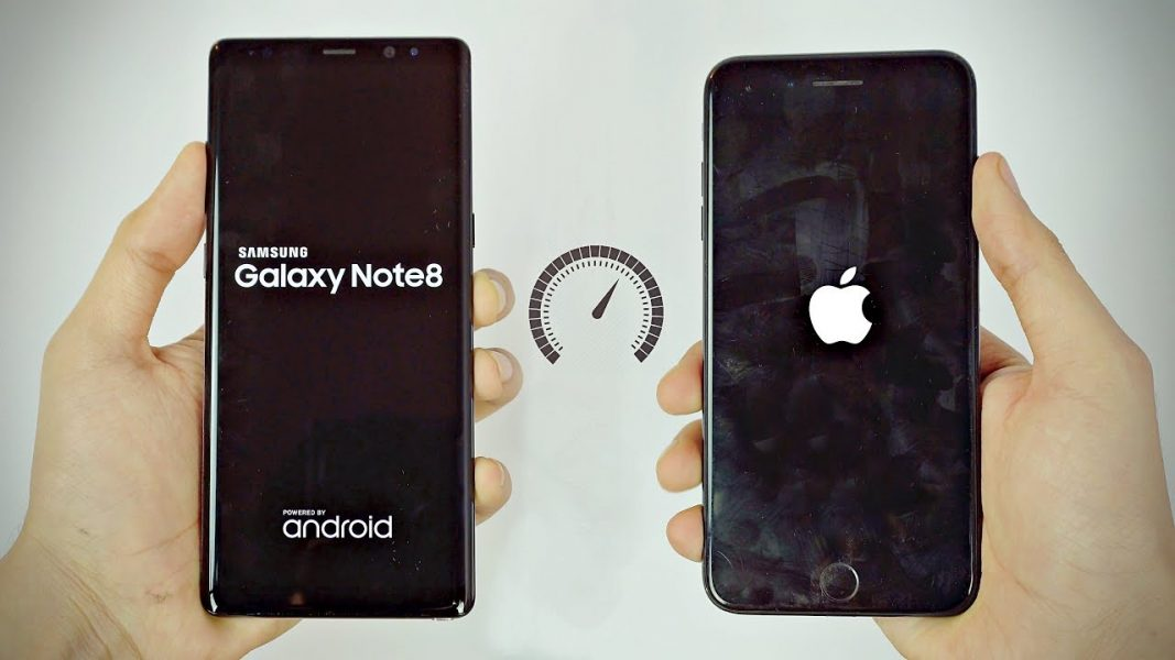 galaxy note 8 vs iphone 8 plus lequel est le plus rapide. Black Bedroom Furniture Sets. Home Design Ideas