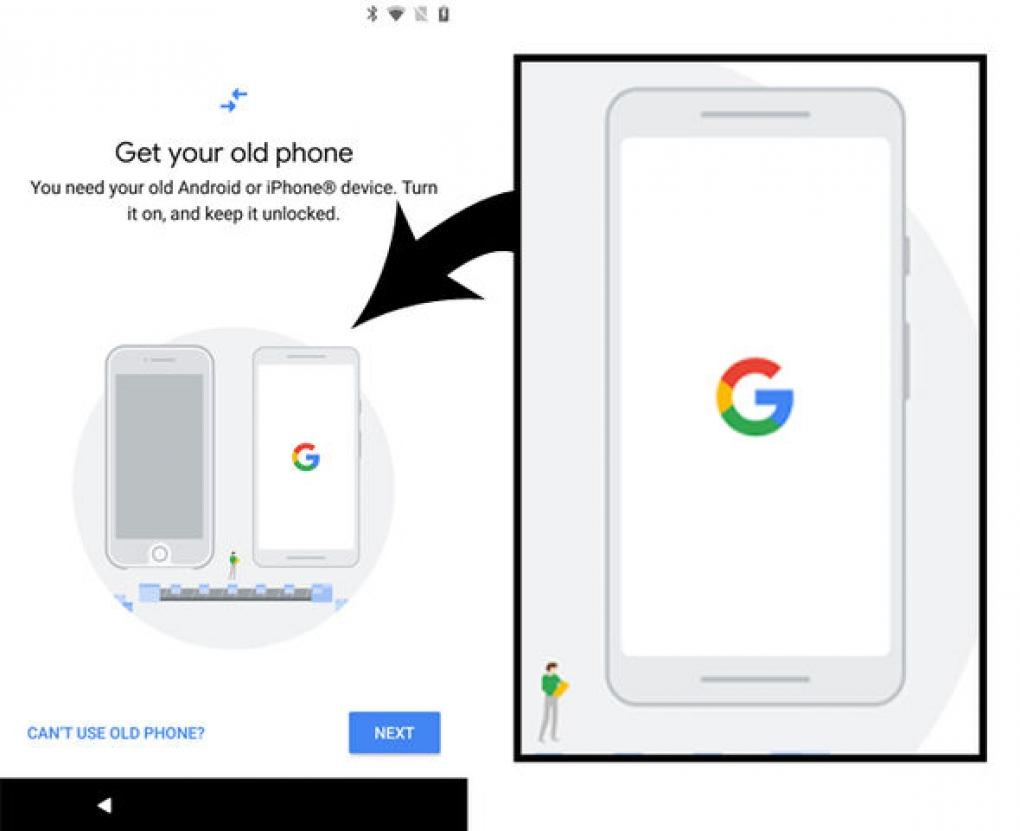 Google Pixel 2 Data Transfer Tool