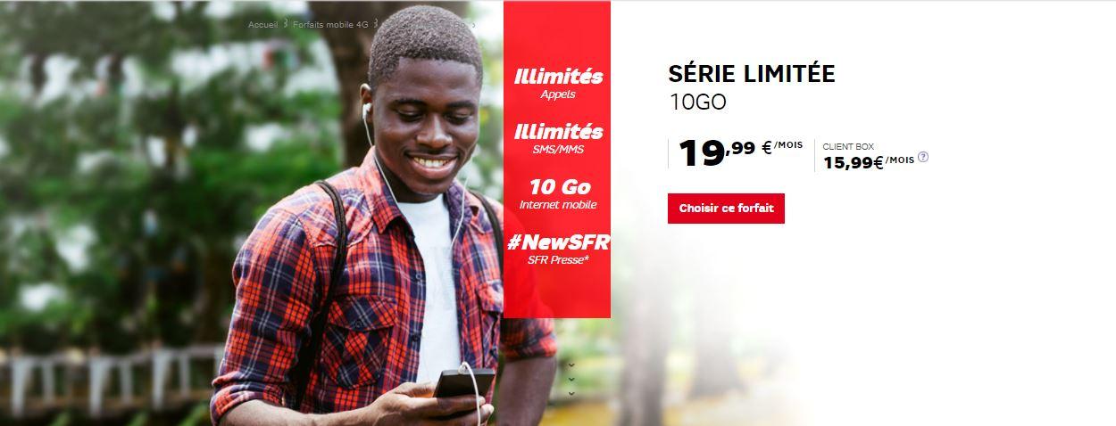 SFR Serie limitee 10 Go
