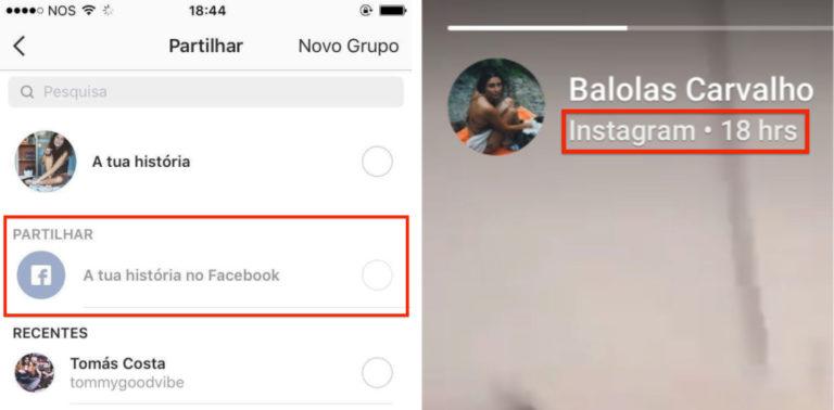 Stories Instagram Facebook