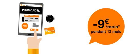 Orange exclu web ADSL remise de 9 euros