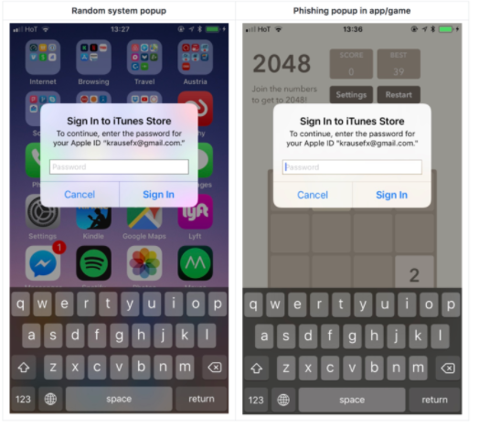 iOS : une faille dans les popups pourrait devenir problématique