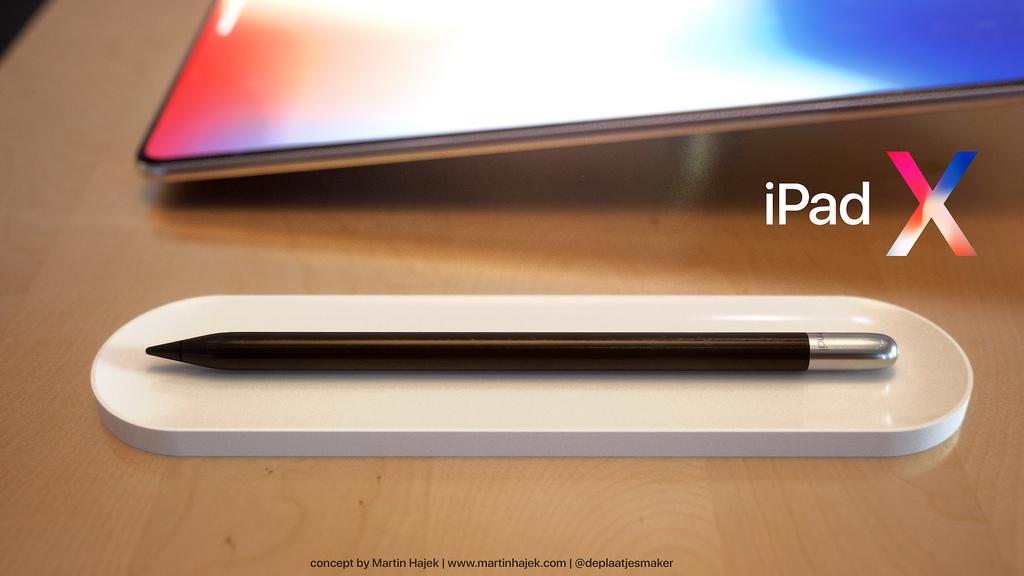 iPad X concept Martin Hajek Apple Pencil