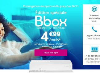 Bbox ADSL offre Bouygues