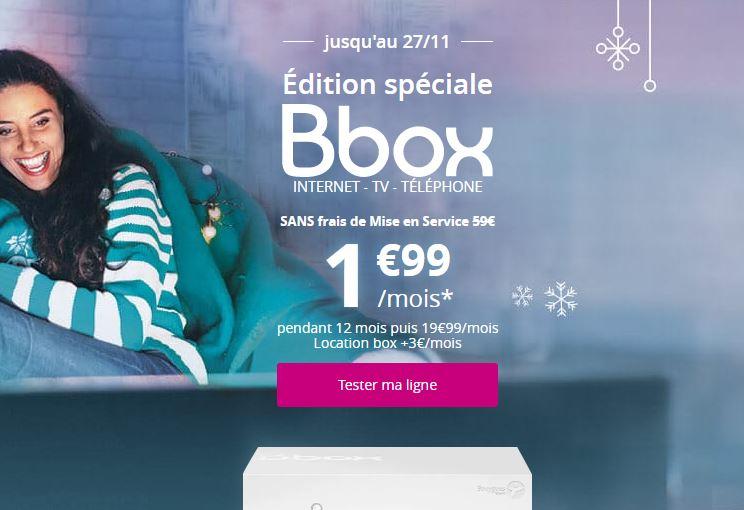 Bbox ADSL offre Bouygues Telecom