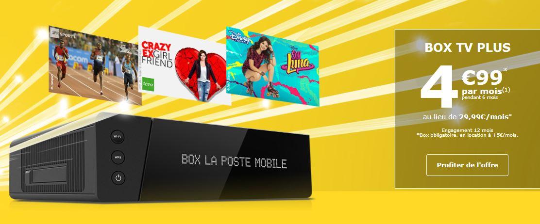 La Poste Mobile Propose Sa Box Tv Plus A 4 99 Euros Au Lieu De 29 99