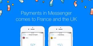 Facebook Messenger argent
