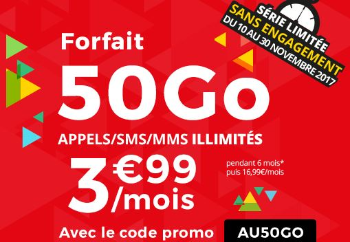 auchan t l com a lanc un forfait 50 go tout illimit euros par mois meilleur mobile. Black Bedroom Furniture Sets. Home Design Ideas