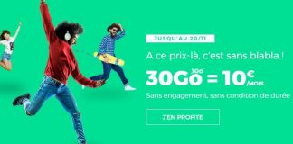 RED by SFR forfait 30 Go 10 euros