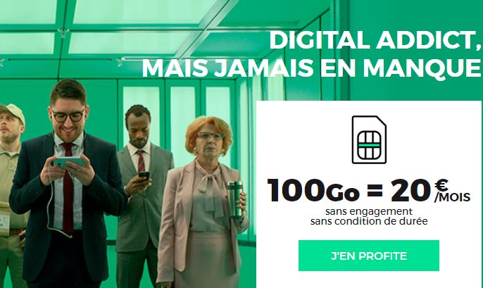 RED by SFR forfait 100 Go 20 euros