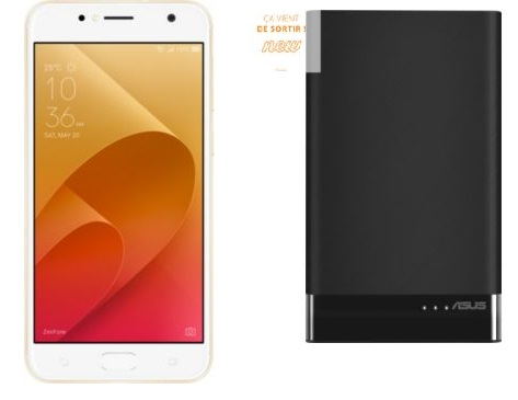 Asus ZenFone Live Plus ZB553KL GOLD + batterie externe ZenPower bon plan Boulanger