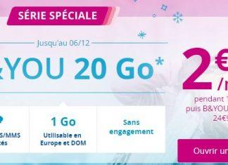 Série spéciale forfait b and you 20 Go