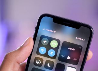 iPhone X pourcentage batterie