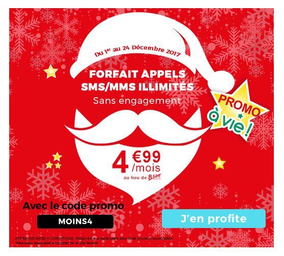 Auchan Télécom promo forfait appels sms mms