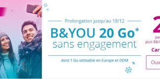 B&You 20 Go forfait série spéciale