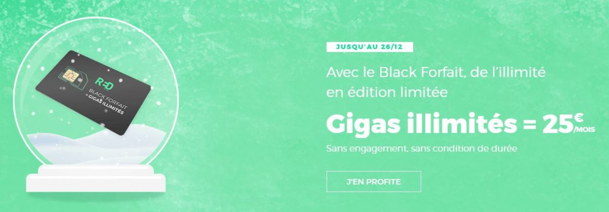 Forfait gigas illimités RED by SFR 25 euros