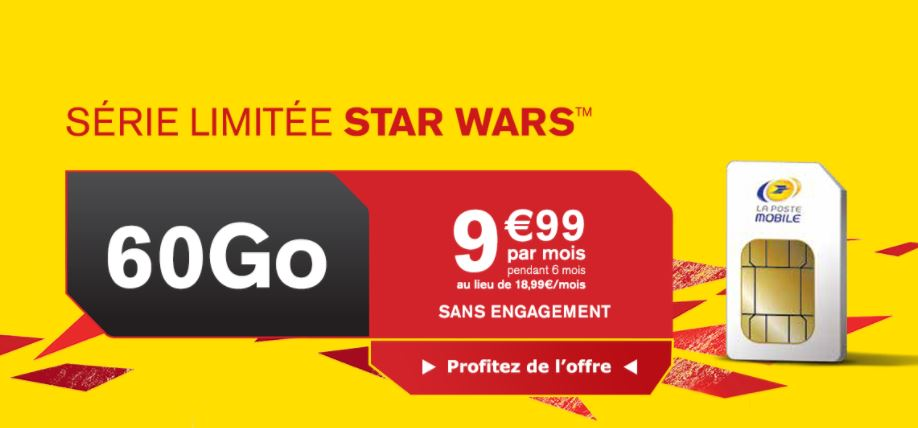le forfait star wars 60 go de la poste mobile est euros par mois meilleur mobile. Black Bedroom Furniture Sets. Home Design Ideas