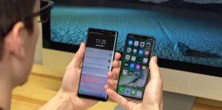 Samsung Galaxy Note 8 vs iPhone X Face ID scanner d'iris