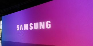 Samsung logo violet
