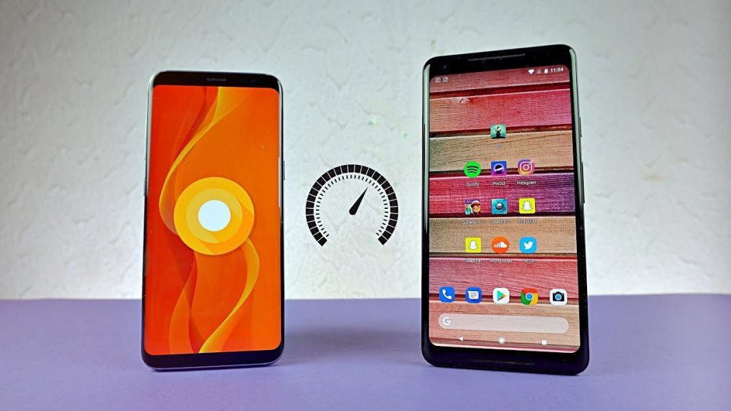 OnePlus 5T Samsung Galaxy S8 speed test