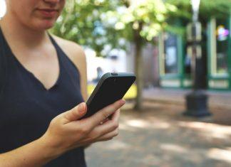 Smartphone utilisatrice
