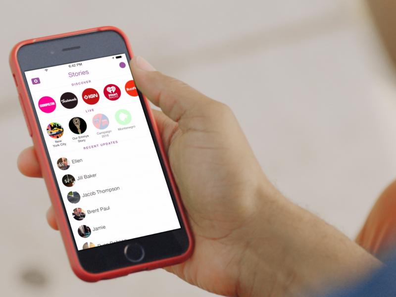 Snapchat reseau social stories