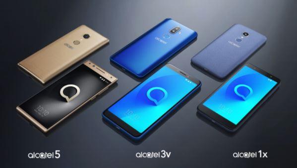 Alcatel A5 Alcatel 3v Alcatel 1x smartphones