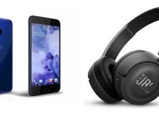 HTC U Play + casque Bluetooth JBL T450BT