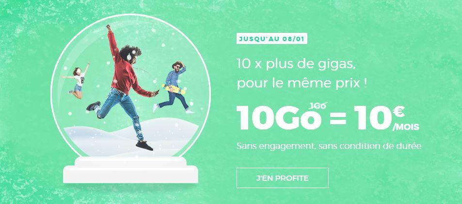 RED by SFR 10 Go 10 euros