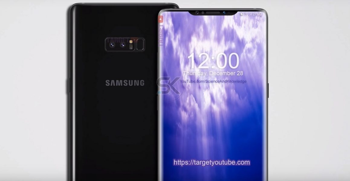Samsung Galaxy Note 9 iPhone X concept