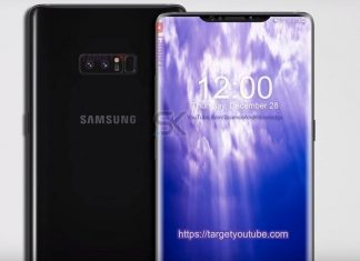 Samsung Galaxy Note 8 iPhone X concept