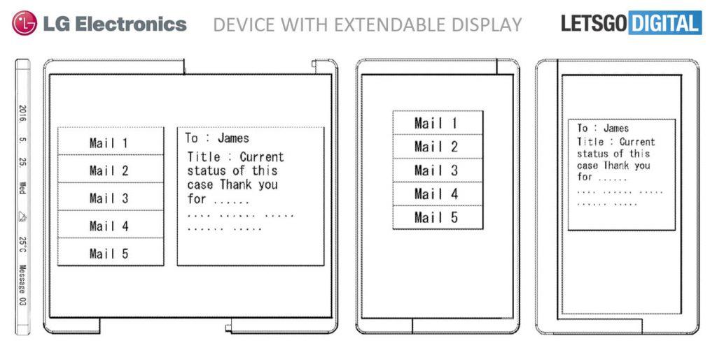 Smartphone LG écran flexible