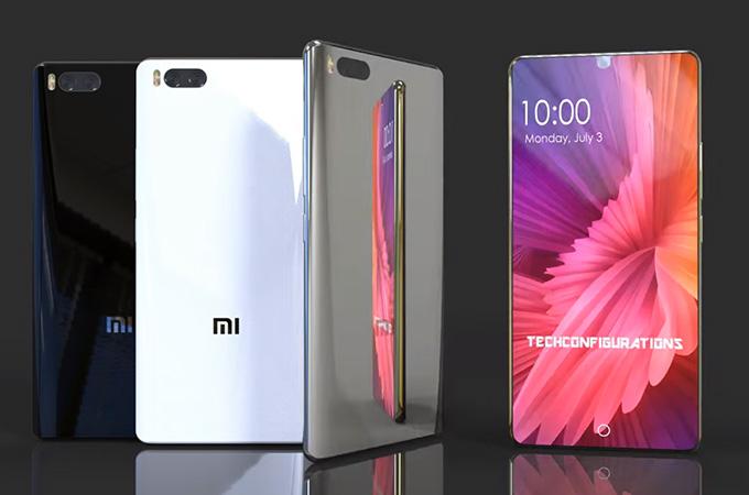 Xiaomi Mi 7 concept Snapdragon 845 recharge sans fil Qi