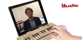 Clavier musical en carton iPad