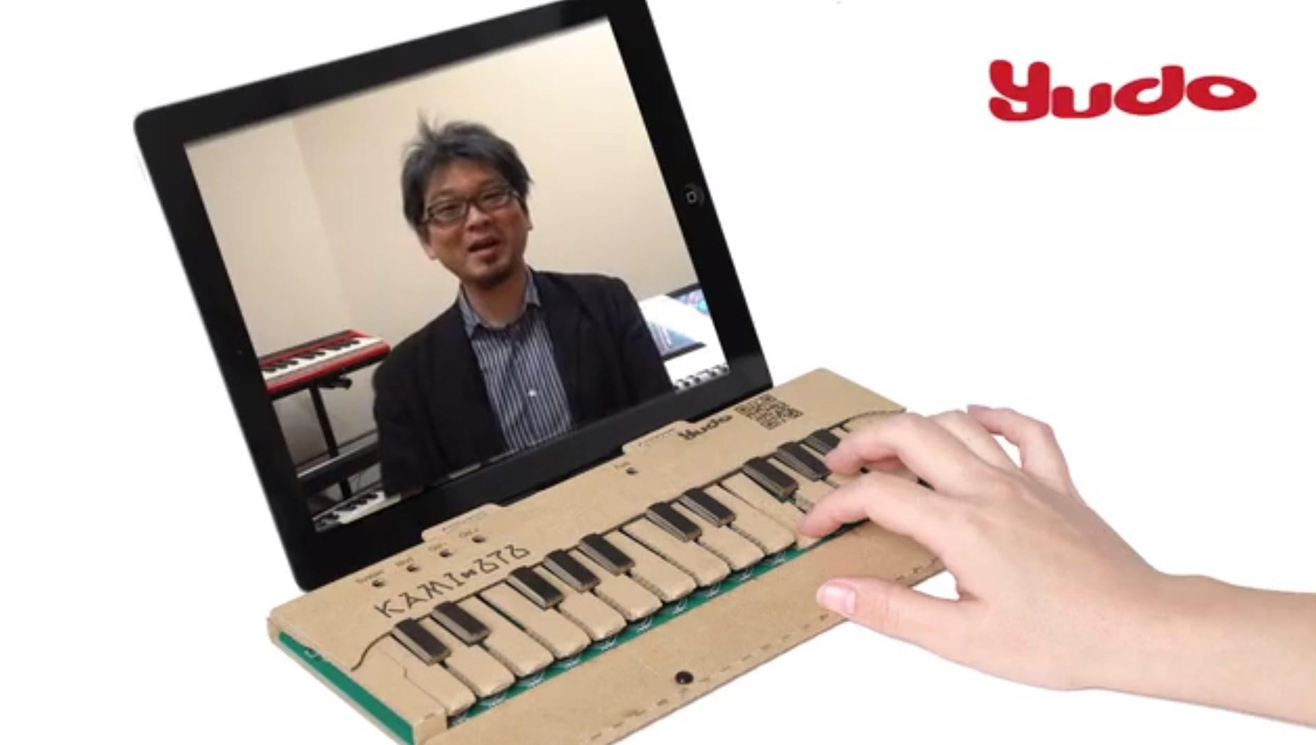 Un clavier musical en carton pour l'iPad ?
