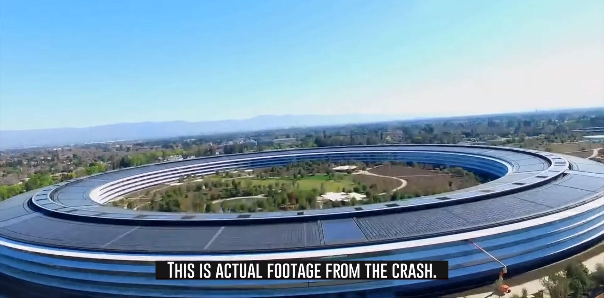 Apple Park Un Drone Se Crashe Sur La Propriete DApple