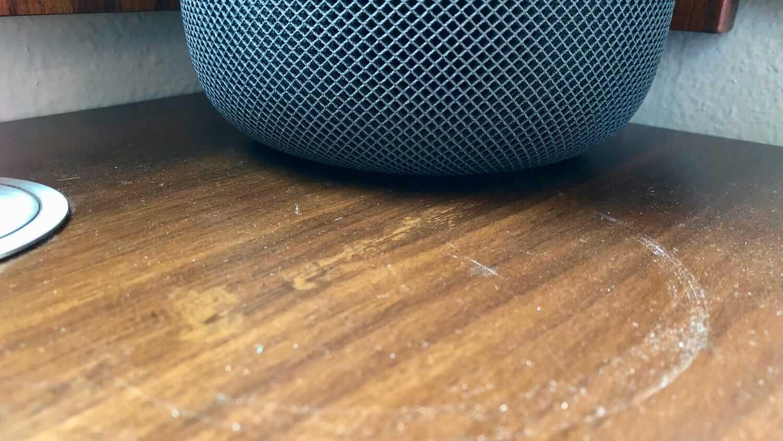HomePod : l'enceinte connectée d'Apple peut endommager les meubles en bois !