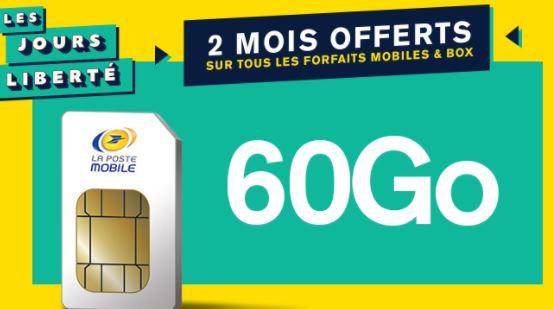 Bon plan La Poste Mobile : deux mois de forfait gratuits !