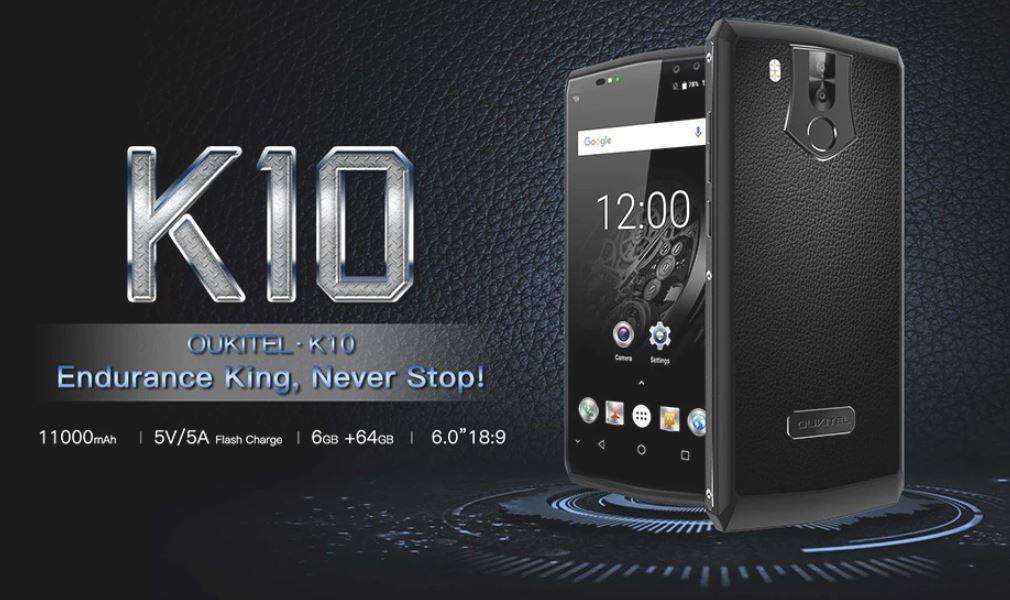 Bon plan Oukitel K10 : 208 euros pour le smartphone avec batterie de 11000 mAh sur GearBest