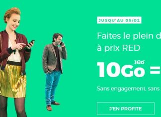 RED by SFR forfait 10 Go 10 euros