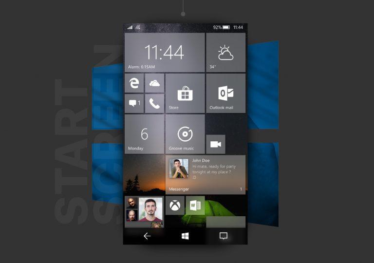 Un concept Fluent Design de Windows 10 Mobile fait son apparition sur la toile