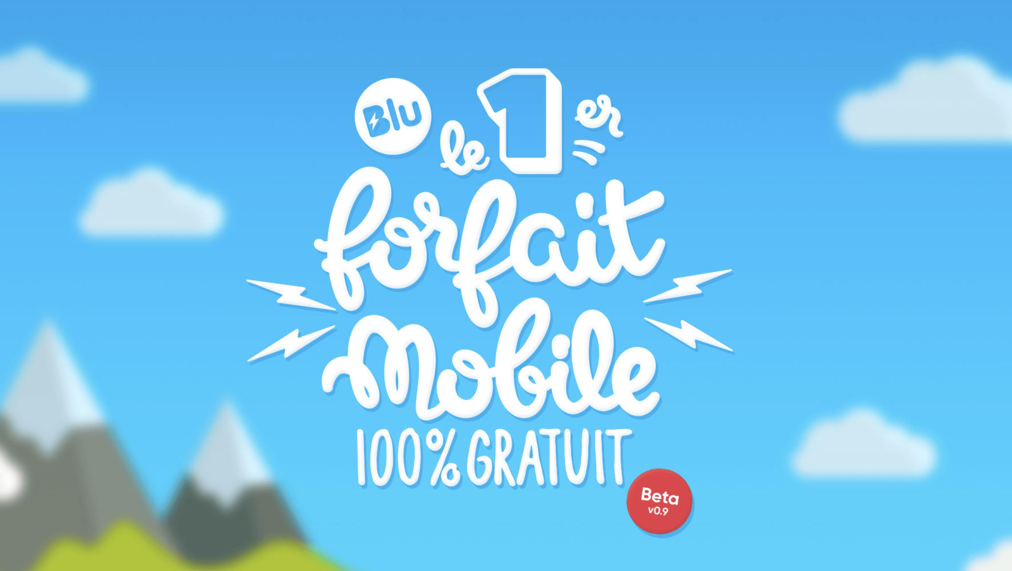 Prixtel propose Blu, le 1er forfait totalement gratuit avec 100% de 4G