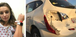 Apple Watch accident de voiture