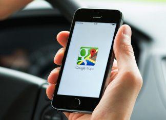 Google Maps sur un smartphone